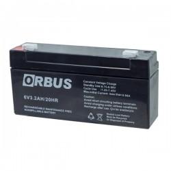 Orbus 6 Volt 3.2 Amper Akü ( 125 X 33 X 60 663003