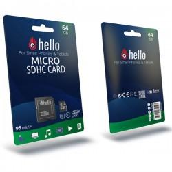 Hello 64 Gb U3 Micro SD Hafıza Kartı Class 10 422002