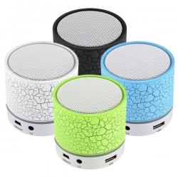 Işıklı Mini Bluetooth Hoparlör, Taşınabilir Kablosuz Ses Bombası 450009